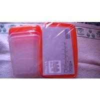 Пластиковые контейнеры для еды 17 контейнеров с крышкой. красный.  распродажа