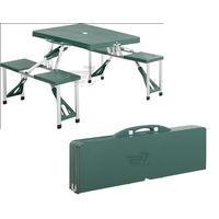 """Стол туристический (стол и стулья в сборе), складывается в """"чемоданчик"""" с ручкой - новый."""
