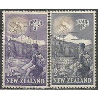 Новая Зеландия. Туризм. Восхождение на Эверест. 1954г. Mi#346-47. Серия.