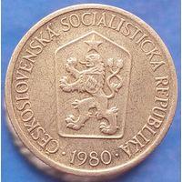 1 крона 1980 Чехословакия КМ# 50 алюминиевая бронза