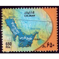 1 марка 2007 год Иран Карта