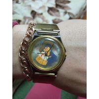 Часы СССР луч Владимирская божья матерь, на отличном ходу, браслет в подарок, не с рубля
