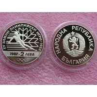 Болгария 2 лева 1987 Калгари 1988 proof
