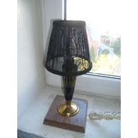 Небольшая старая настольная лампа.70-е годы Арм ССР