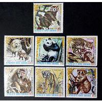 Экваториальная Гвинея 1976 г. Животные Азии. Фауна, полная серия из 7 марок #0145-Ф1