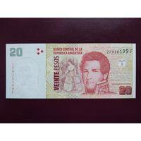 Аргентина 20 песо 2015 UNC