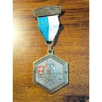 Медаль Wandertag pfronten traumschloss falkenstein 1972 БОЛЬШАЯ