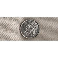 Тринидад и Тобаго 25 центов 2012/флора(Ab)