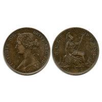 Великобритания. 1/2 пенни 1862 г.