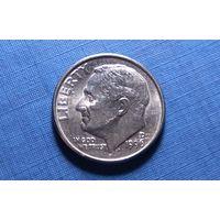 10 центов (дайм) 1996 D. США. XF!