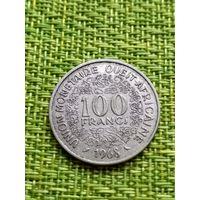 Западная Африка 100 франков, 1968 год