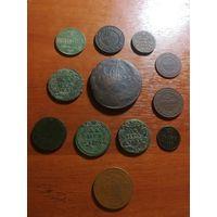 Лот монет Российской Империи, с 1 рубля.
