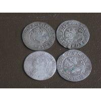 Четыре старопольские серебряные монеты #2