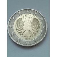 """Германия 2 евро 2002 """"J""""."""