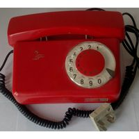 Телефон дисковый TELКОM RWT (Польша) 1981г