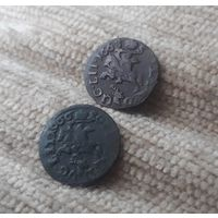 Солид 1665 и 1666гг. ГОЛОВА ОЛЕНЯ R1