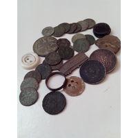 Монетки и прочие находки из земли.