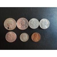США сборный лот монет 1965-2005год