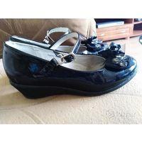 Туфли р.34 кожа в школу на платформе