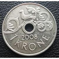 1 крона 2008 Норвегия