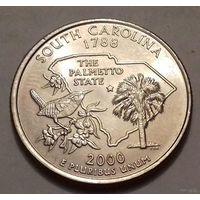 25 центов, квотер США, штат Южная Каролина, P D