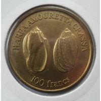"Уоллис и Футуна 100 франков 2011 ""Моллюск (Harpa amouretta crassa)"""