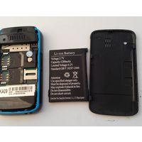 МИНИ Телефон КА-09. На 2 сим карты. С зарядным устройством. Трещина на экране.