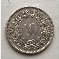 Швейцария 10 раппен 1975