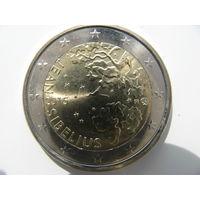 Финляндия 2 евро 2015 г. 150 лет со дня рождения Яна Сибелиуса. (юбилейная) UNC!