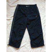 Брюки штаны спортивные укорочённые Nike 46 Оригинал т. Синие