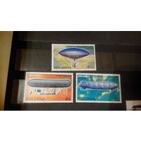Транспорт, авиация, дирижабли, марки, Молдова (Молдавия), 2003