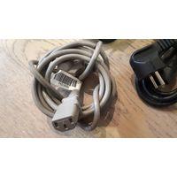 Шнур, силовой кабель питания принтера компютера факса 1,8м HP CANON fk2-6890 fk3-123010