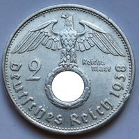 Германия, 2 марки 1938 B (серебро)