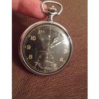 Редкий карманный хронограф ALPINA Швейцария 1935-43годы.