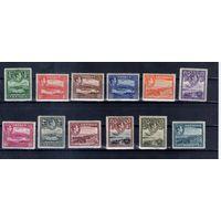 Британская колония Антигуа 120 Михель-евро следы наклеек