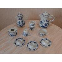 Набор посуды фарфор 10 предметов луковая роспись (рисунок) Германия Нидерланды.