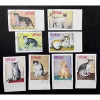 Вьетнам 1979 г. Кошки. Фауна, полная серия из 8 марок #0262-Ф1P59