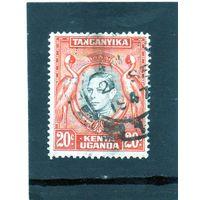 Восточно-африканское сообщество. Кения.Уганда.Танганьика.Ми-60.Серый венценосный журавль.Король Георг VI. 1938.