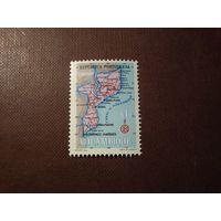 Португальский Мозамбик 1954 г.Карта Мозамбика ./1а/