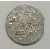 3 гроша (трояк) 1598 г Рига.