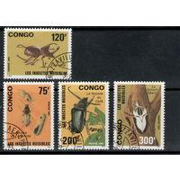 Конго /1991/ Фауна / Насекомые / Жуки / 4 Марки