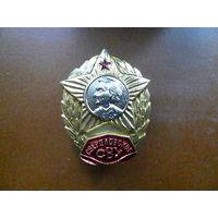 Знак нагрудный. Суворовское военное училище. Свердловское СВУ. Закрутка.