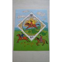 Марки Монголия дети блок