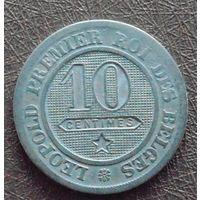 10 сантимов 1861 Бельгия