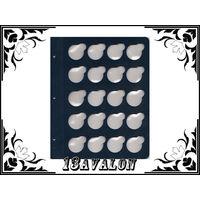 Лист Синий, для монет в капсулах D= 34 мм, Коллекционер КоллекционерЪ в альбом для капсул