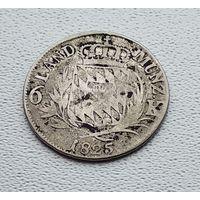 Бавария 6 крейцеров, 1825 7-7-32