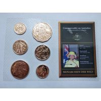 Набор монет Австралии в блистере - 13