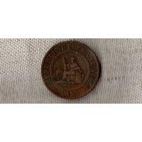 Индокитай /Французский/ 1 цент 1885 //(D)