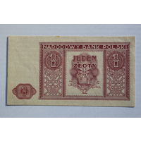 Польша, 1 злотый 1946 год, aUNC