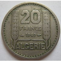 Французский Алжир 20 франков 1949 г. (d)